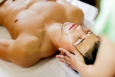 male getting massage
