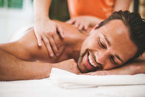 massaging man